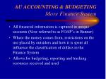 au accounting budgeting more finance system26