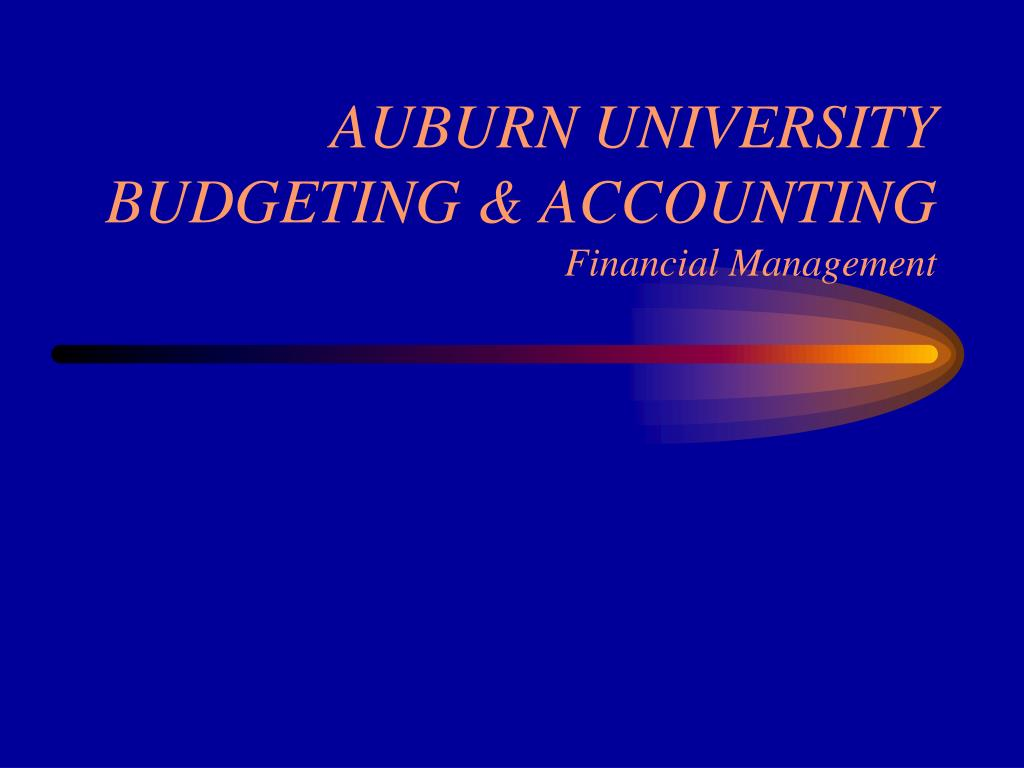 auburn university budgeting accounting financial management l.