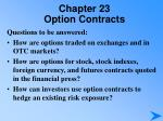 chapter 23 option contracts