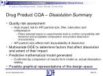 drug product cqa dissolution summary