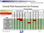 overall risk assessment for process