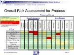overall risk assessment for process20