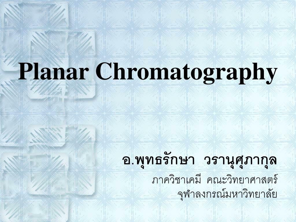 planar chromatography l.