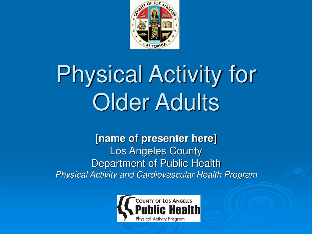 physical activity for older adults l.
