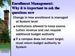 enrollment management why it is important to ask the questions now6