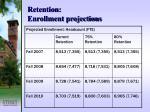 retention enrollment projections