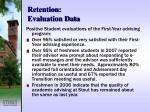 retention evaluation data22