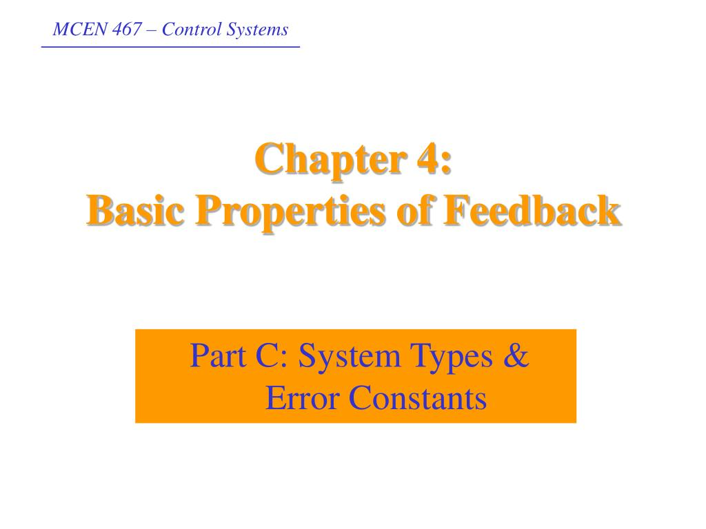 chapter 4 basic properties of feedback l.