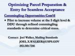 optimizing parcel preparation entry for seamless acceptance13
