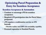 optimizing parcel preparation entry for seamless acceptance14