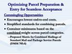 optimizing parcel preparation entry for seamless acceptance6