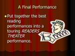 a final performance