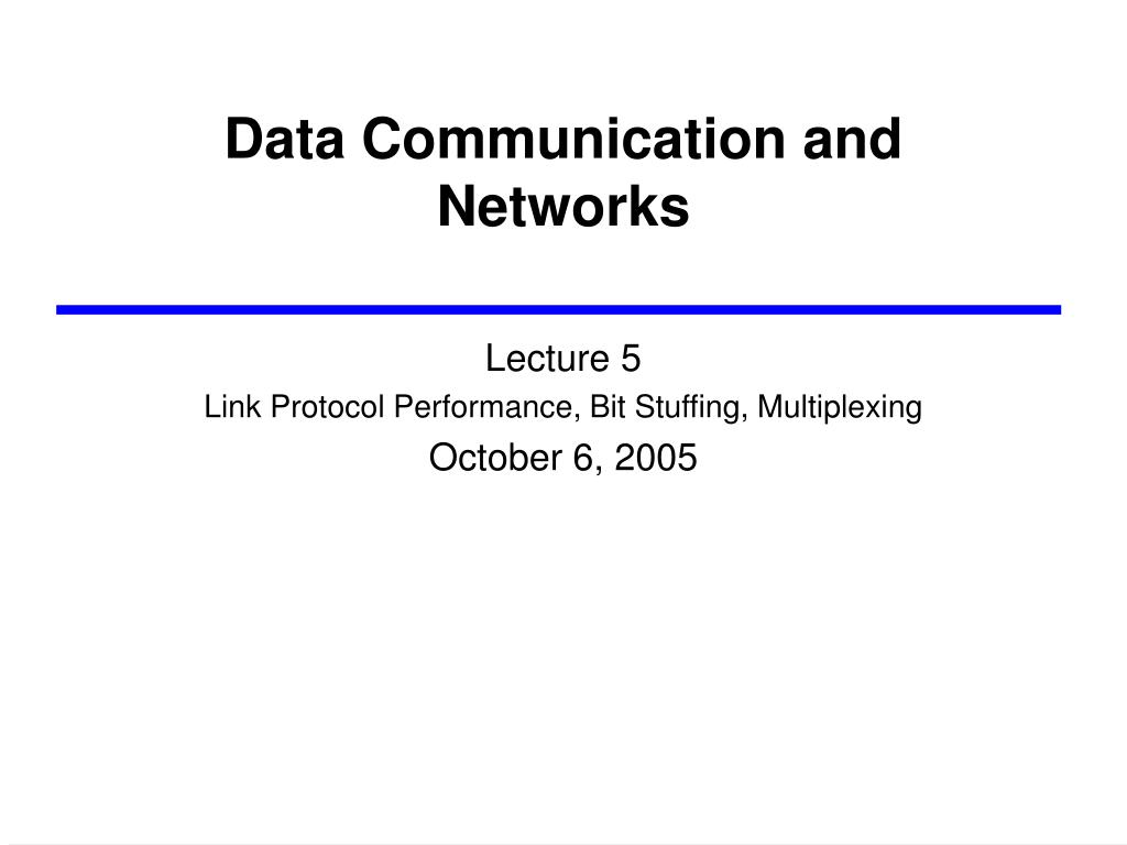 data communication and networks l.