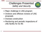 challenges presented safety and security