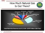 how much natural gas is out there