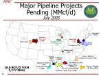 major pipeline projects pending mmcf d july 2005