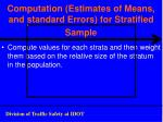 computation estimates of means and standard errors for stratified sample