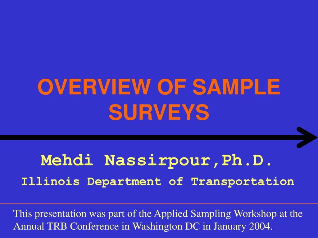 overview of sample surveys l.