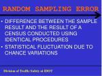 random sampling error