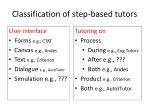 classification of step based tutors