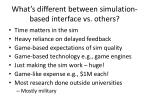 what s different between simulation based interface vs others