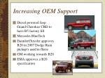 increasing oem support