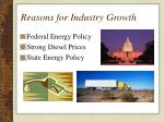 reasons for industry growth