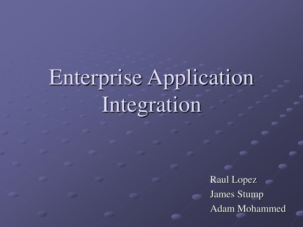 enterprise application integration l.