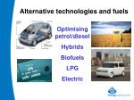 alternative technologies and fuels