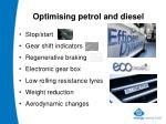 optimising petrol and diesel
