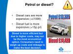 petrol or diesel18