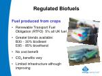 regulated biofuels