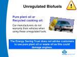 unregulated biofuels