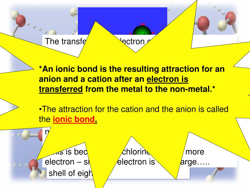 The transfer of the electron caused: