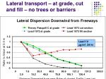 lateral transport at grade cut and fill no trees or barriers