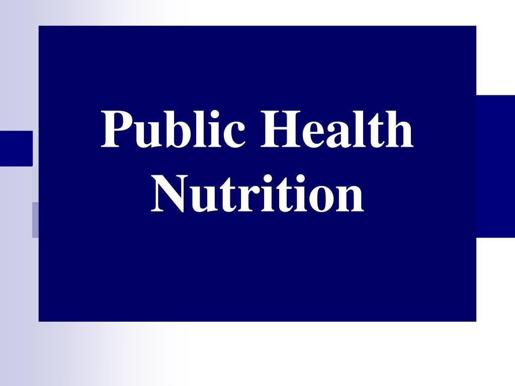 public health nutrition l.