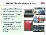 fuel cell vehicle development in china