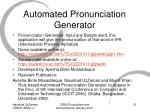 automated pronunciation generator