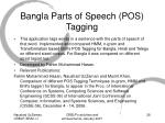 bangla parts of speech pos tagging