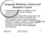 language modeling forward and backward n gram