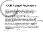 ocr related publications