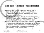 speech related publications
