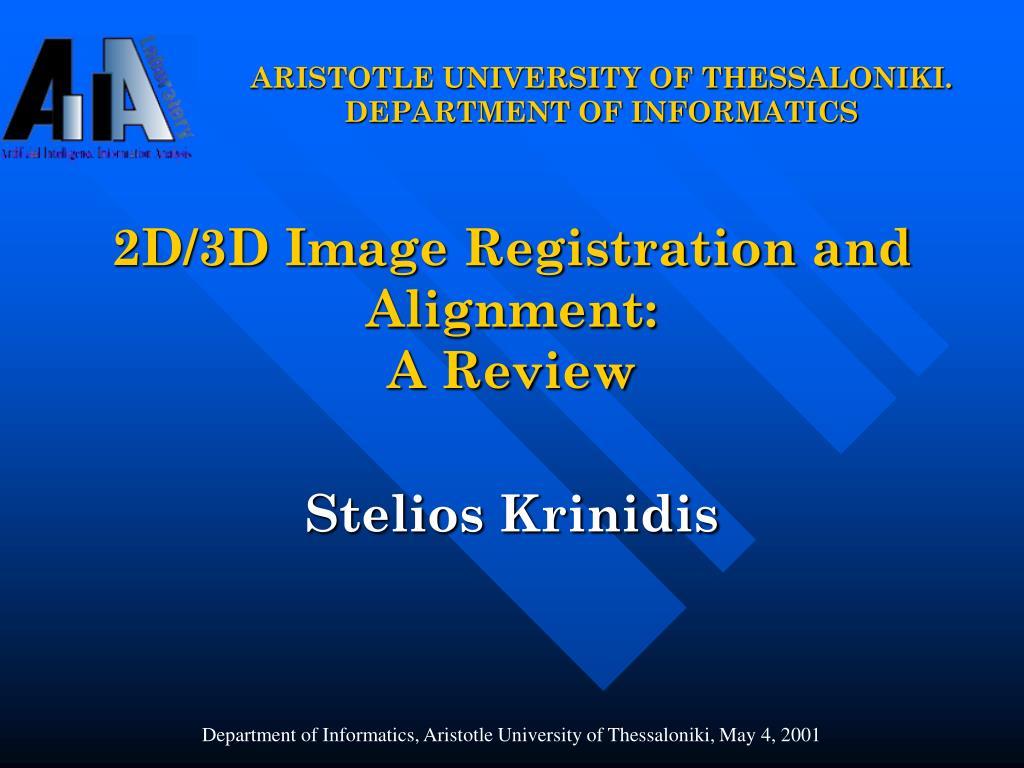 aristotle university of thessaloniki department of informatics l.