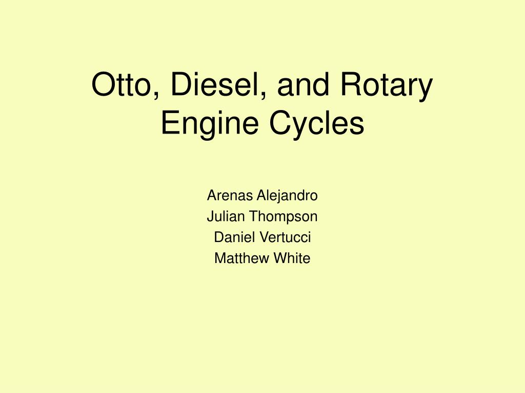 otto diesel and rotary engine cycles l.