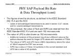 phy sap payload bit rate data throughput cont26