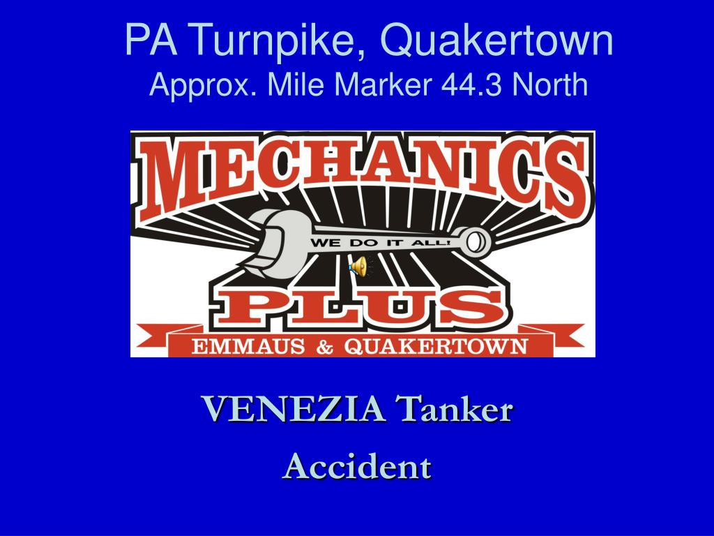 PPT - PA Turnpike, Quakertown Approx  Mile Marker 44 3 North