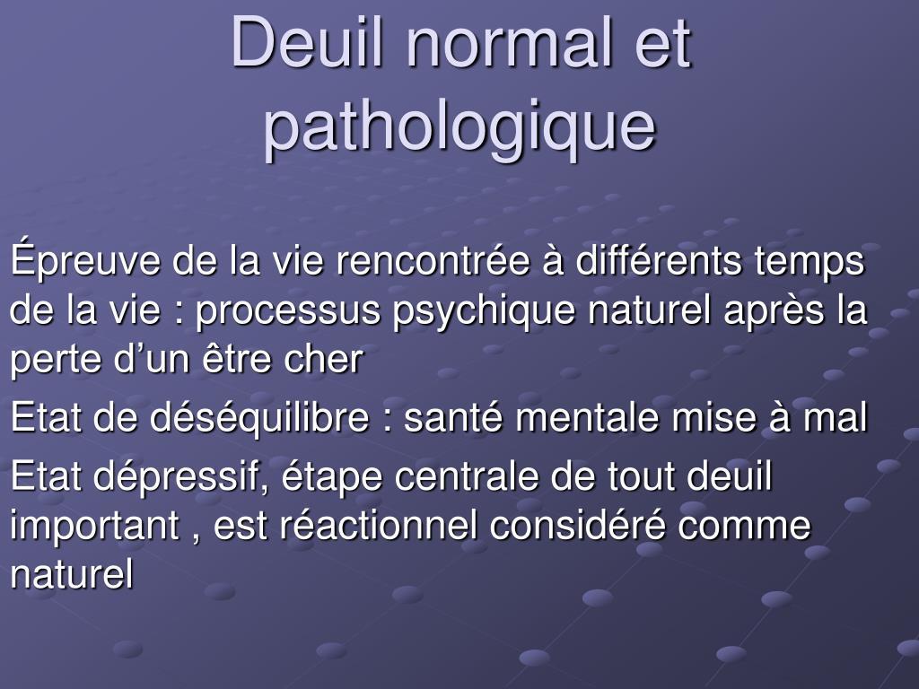 deuil normal et pathologique l.