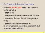 1 1 2 principe de la culture en batch
