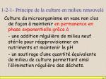 1 2 1 principe de la culture en milieu renouvel