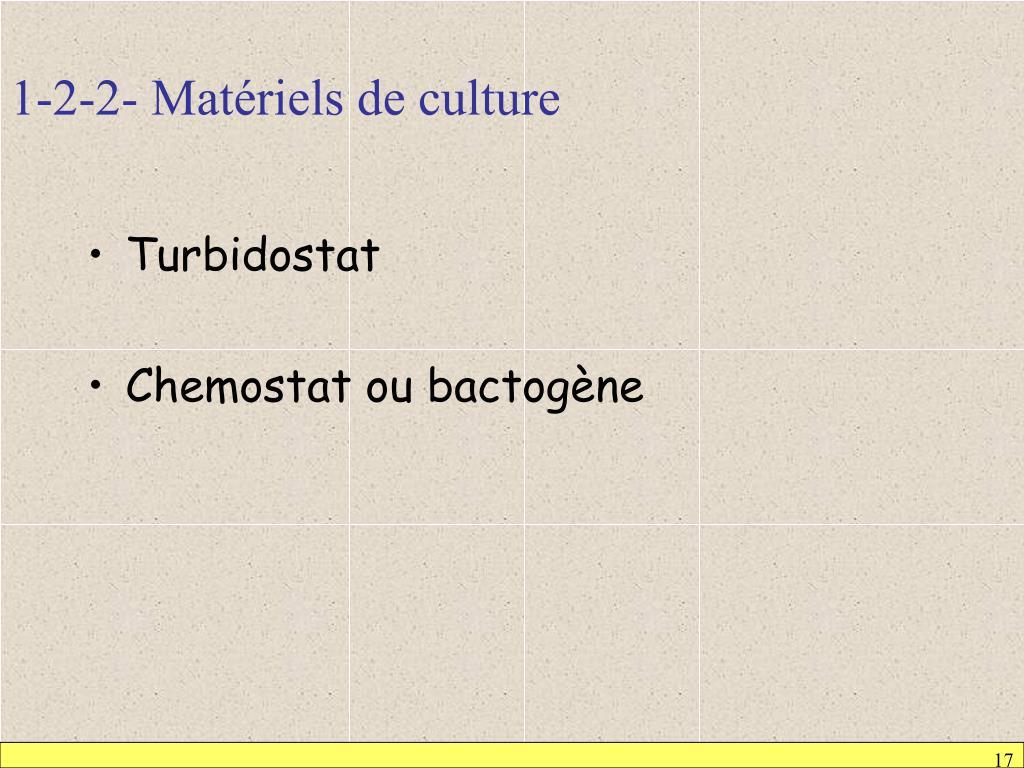 1-2-2- Matériels de culture